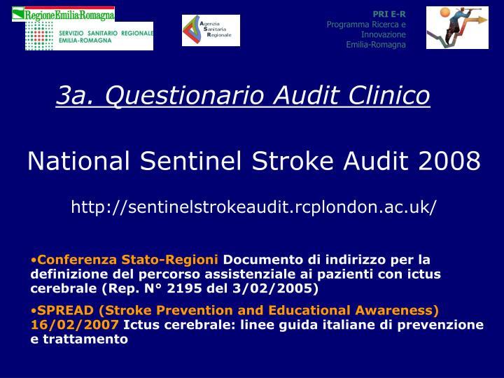 3a. Questionario Audit Clinico