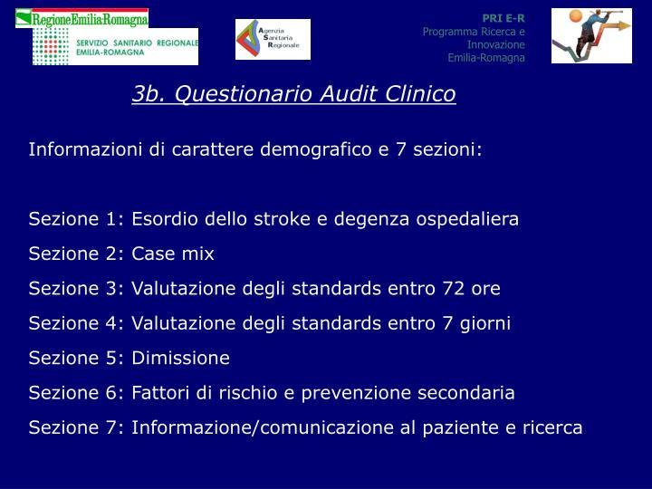 3b. Questionario Audit Clinico