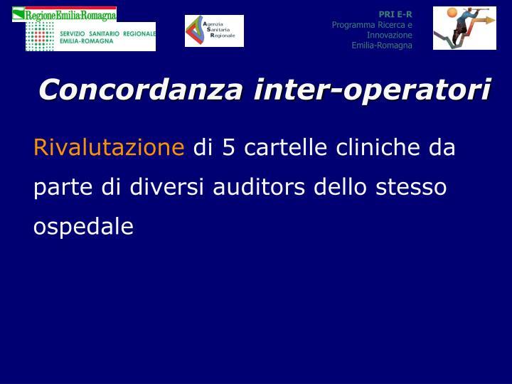 Concordanza inter-operatori