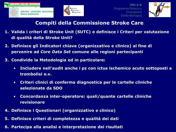Compiti della Commissione Stroke Care