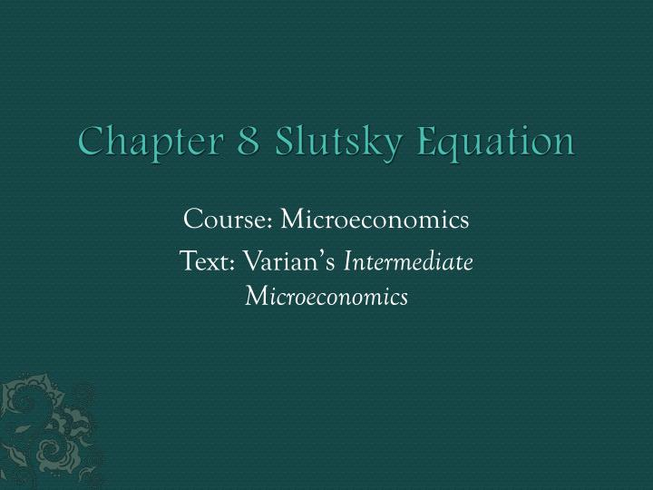 microeconomics 1021 review chapter 1