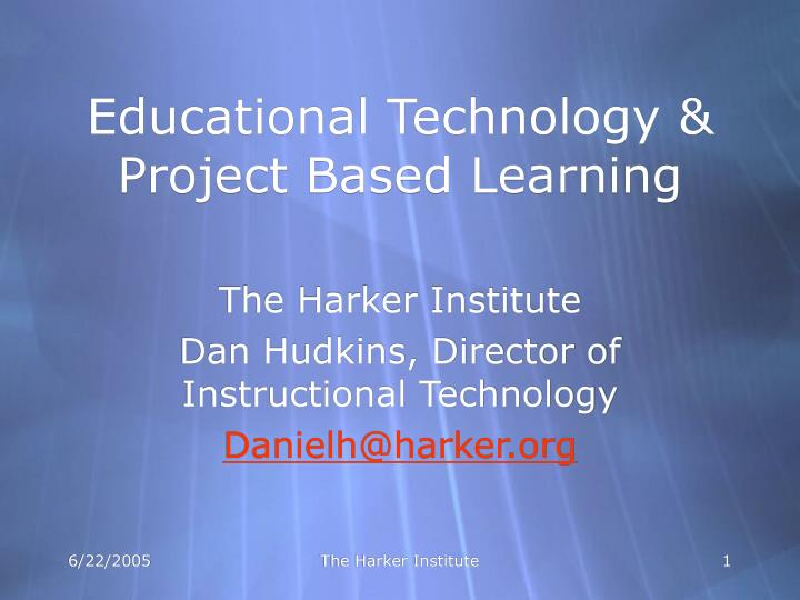 educational technology project based learning n.
