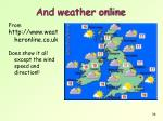 and weather online