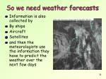 so we need weather forecasts1