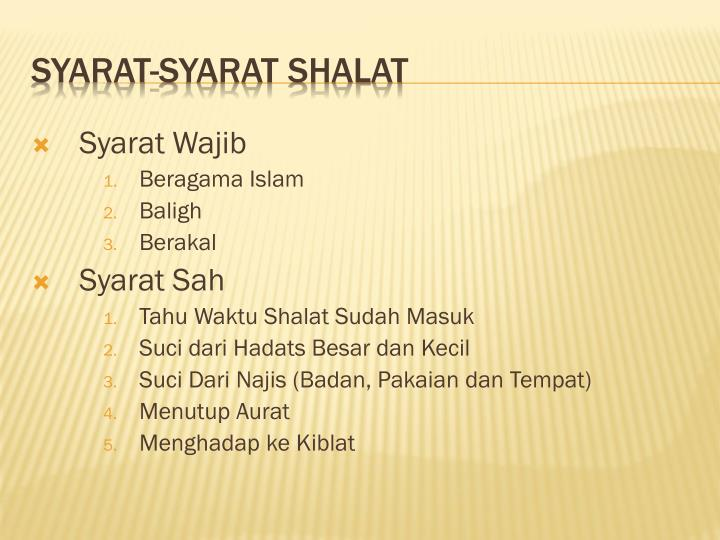 Syarat Wajib