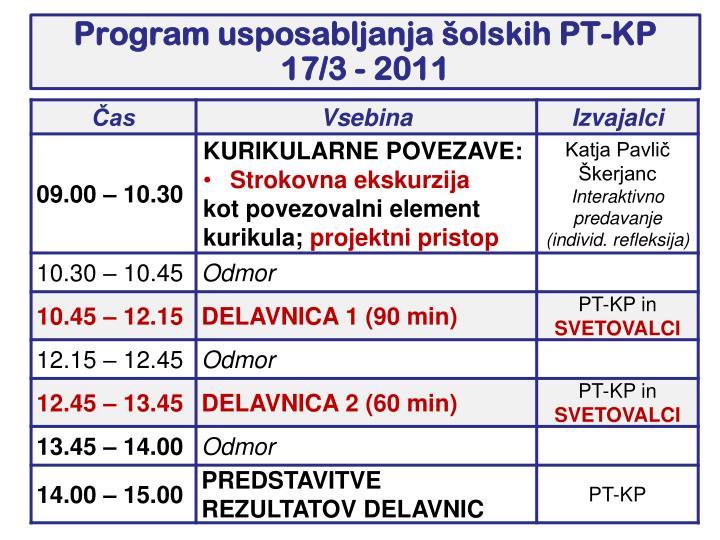 Program usposabljanja olskih pt kp 17 3 2011