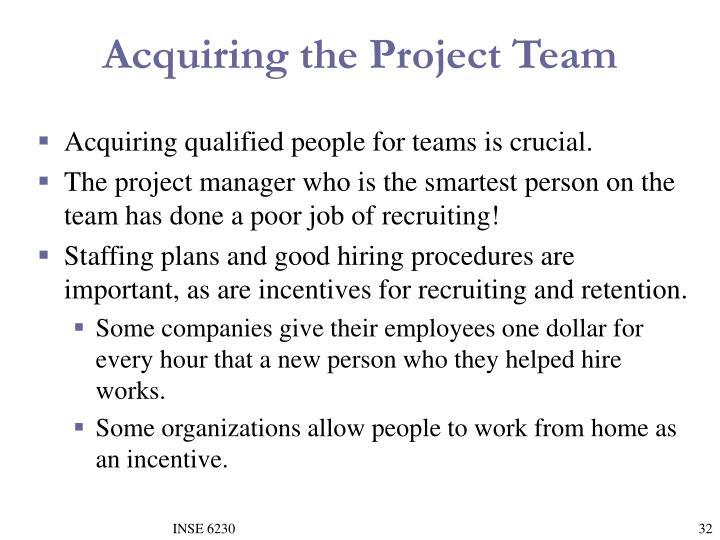 Acquiring the Project Team
