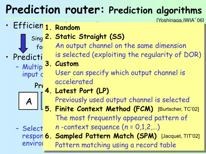 Efficient predictor is key