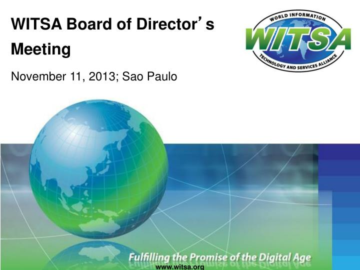 witsa board of director s meeting n.