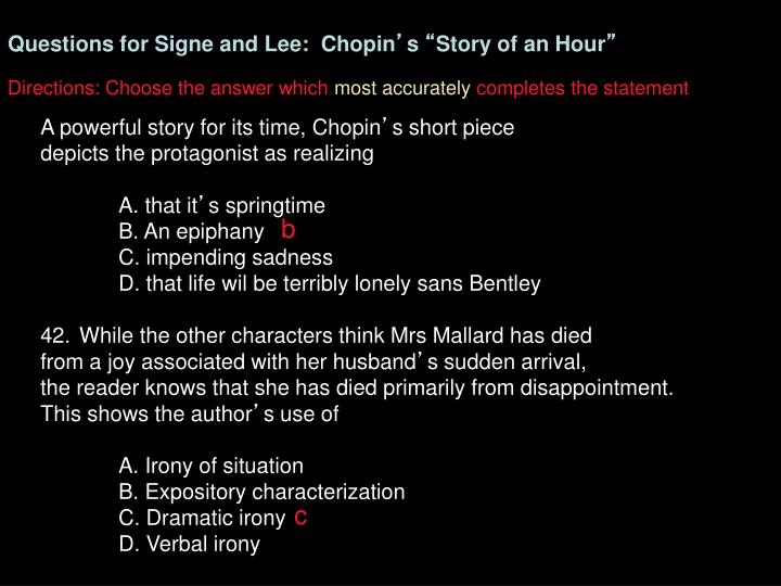 Questions for Signe and Lee:  Chopin