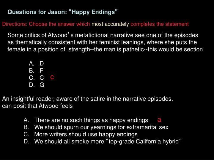 Questions for Jason: