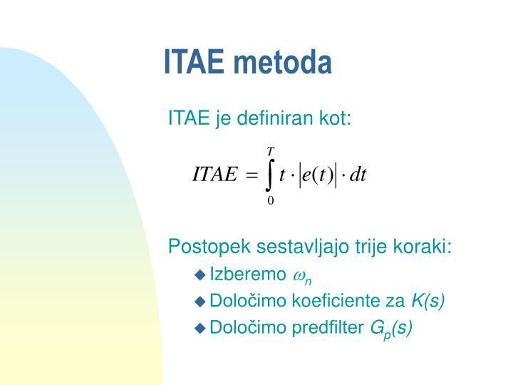 ITAE metoda