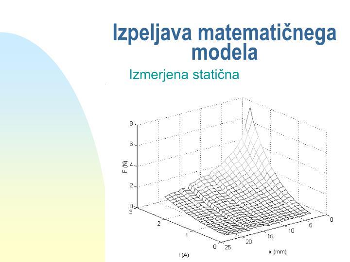 Izpeljava matematičnega modela