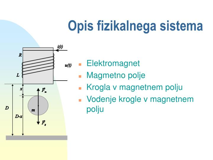 Opis fizikalnega sistema