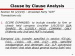 clause by clause analysis16