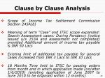 clause by clause analysis28