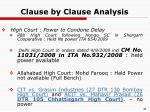 clause by clause analysis29