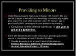 providing to minors