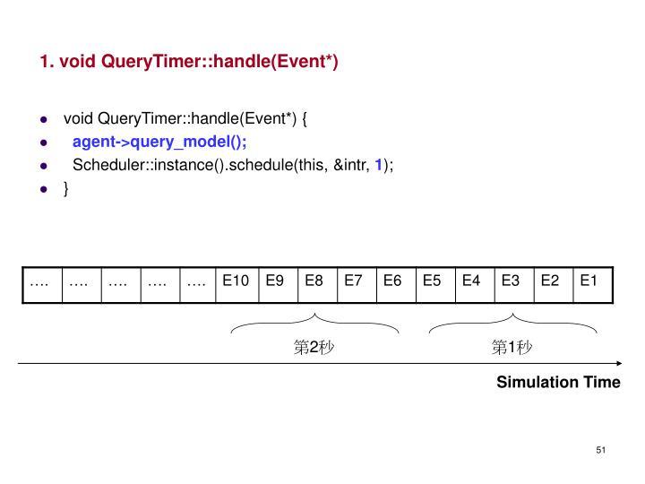 1. void QueryTimer::handle(Event*)
