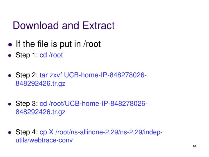 Download and Extract