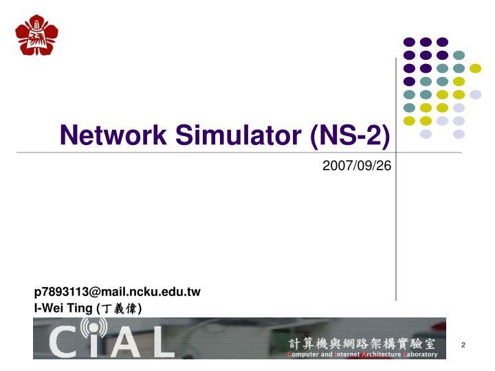 Network simulator ns 2