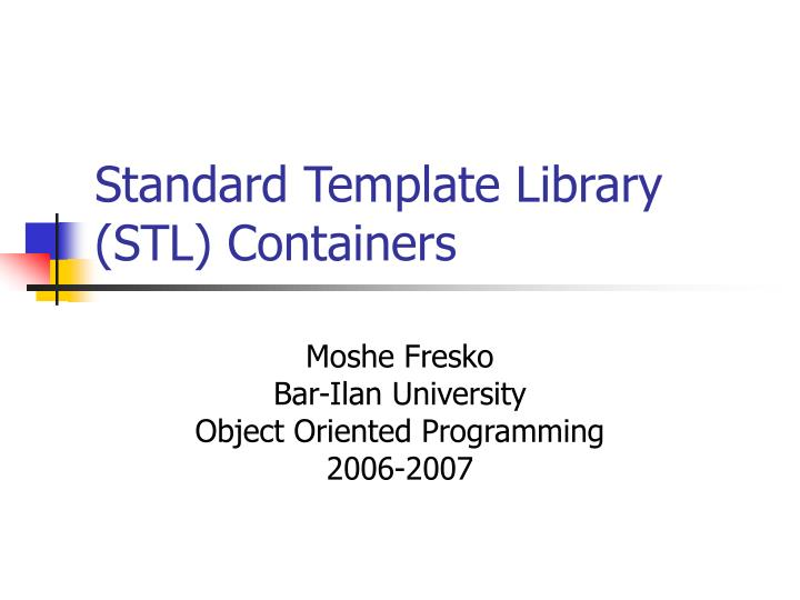 standard template library stl containers n.