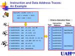 instruction and data address traces an example
