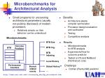 microbenchmarks for architectural analysis