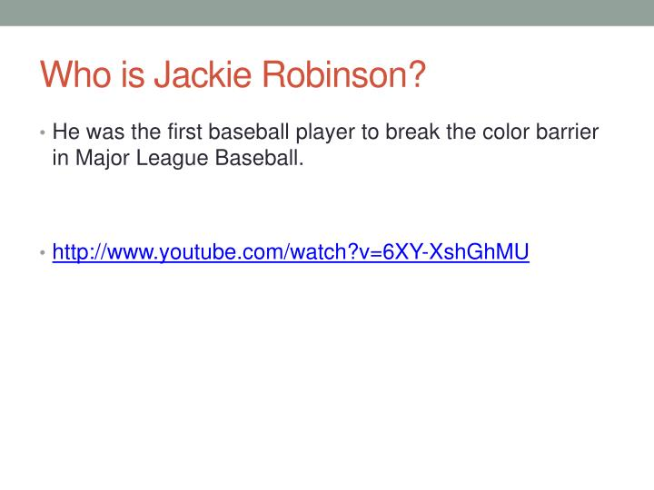 Who is jackie robinson