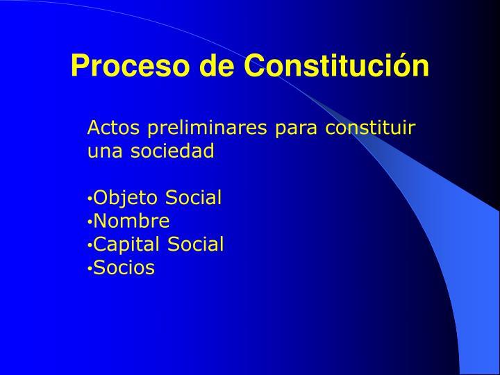 Proceso de constituci n