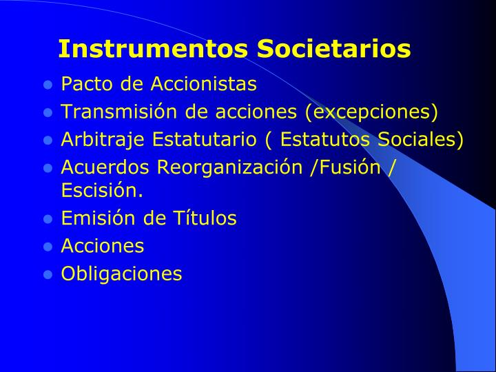 Instrumentos Societarios