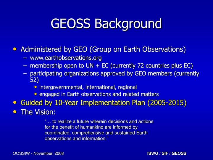 Geoss background