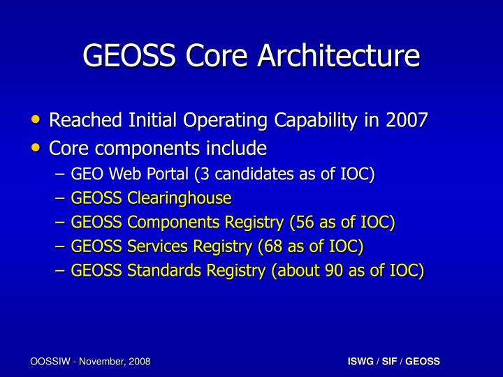 GEOSS Core Architecture