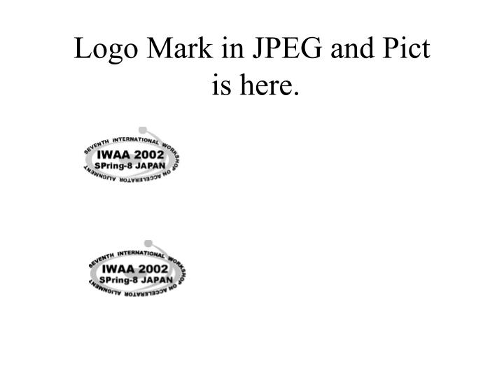 logo mark in jpeg and pict is here n.