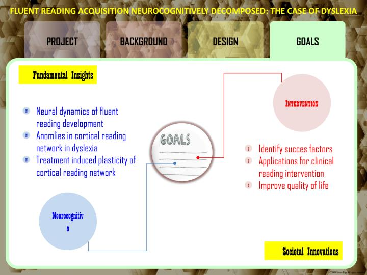 FLUENT READING ACQUISITION NEUROCOGNITIVELY DECOMPOSED: THE CASE OF DYSLEXIA
