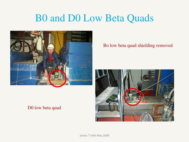 B0 and D0 Low Beta Quads