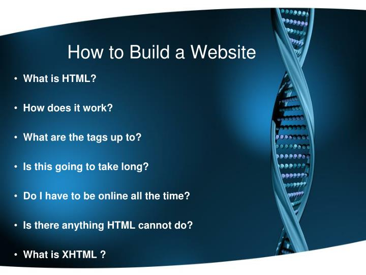 how to build a website n.