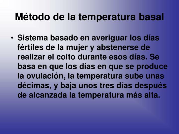 Método de la temperatura basal
