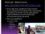 raleigh adventures www raleighinternational org