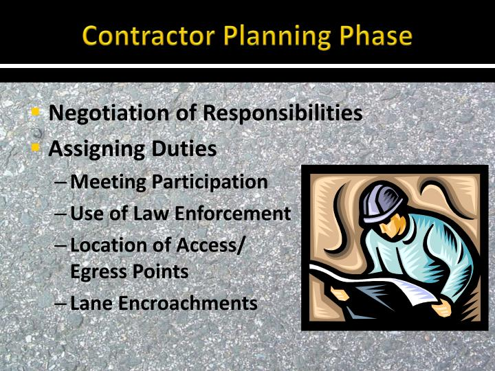 Contractor Planning Phase