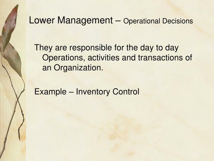 Lower Management –