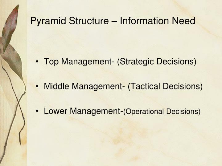 Pyramid Structure – Information Need