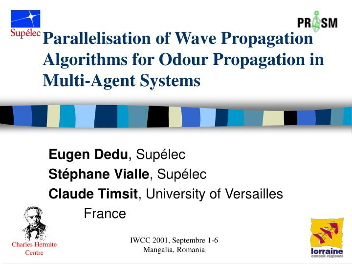 parallelisation of wave propagation algorithms for odour propagation in multi agent systems