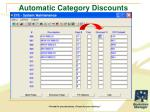 automatic category discounts