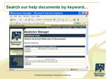 search our help documents by keyword