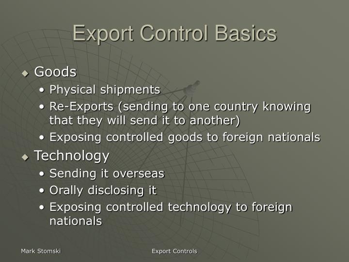 Export control basics