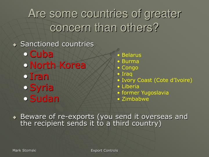 Are some countries of greater concern than others?
