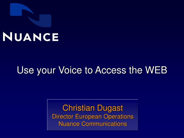 use your voice to access the web