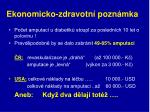 ekonomicko zdravotn pozn mka