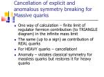 cancellation of explicit and anomalous symmetry breaking for massive quarks